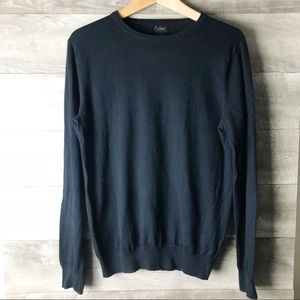 J. Crew women's long sleeve pullover navy sweater